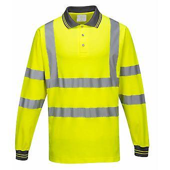 Portwest - Hi-Vis Workwear Langarm Baumwolle Komfort Polo