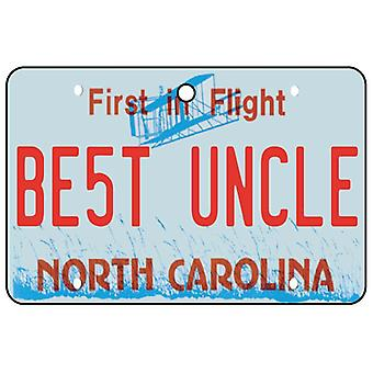 North Carolina - beste Onkel License Plate Auto Lufterfrischer
