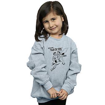 DC Comics Girls Superman Stahl Baby Sweatshirt