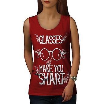 Glasses Make Smart Women RedTank Top | Wellcoda