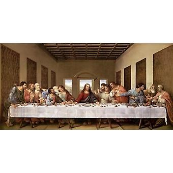 L'impression de Poster la Cène de Leonardo Da Vinci (36 x 18)