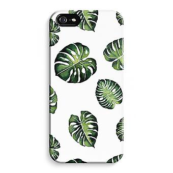 iPhone 5 / 5S / SE Full Print Case (Glossy) - Tropical leaves