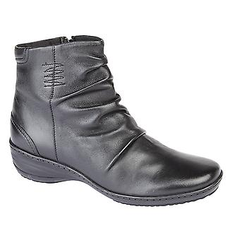 Mod Comfys Womens/Ladies Mid Stitch Memory Foam Ankle Boot