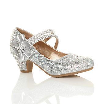Ajvani tyttöjen alhainen kantapää puolue häät mary jane tyyli koukku & silmukka sandaalit koulu kengät