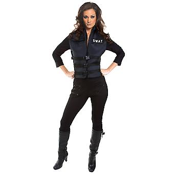 SWAT Girl S.W.A.T. Military Police Cop Commander FBI Uniform Woman Costume