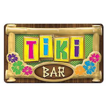 3-D Plastic Tiki Bar Sign