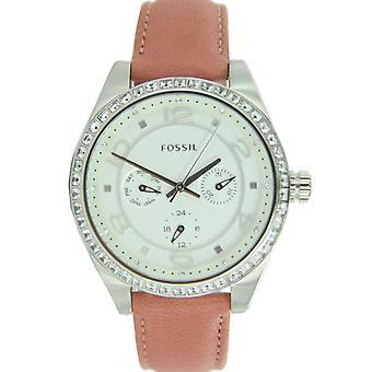 Fossila damer klocka armbandsur läder BQ1227
