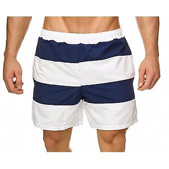 Mens Swim Shorts Swimsuit Color Stripe Beachwear Swimwear Beach Vacation Holiday