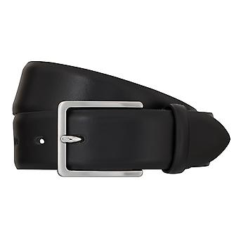 Bugatti belt leather men's belts leather belt black 73