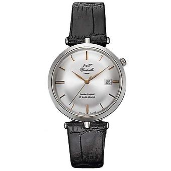 J&T Windmills Mens Threadneedle Mechanical Sterling Silver Rose Gold WGS10001/06 Watch