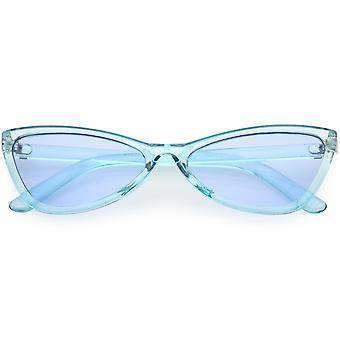 شفافة الرجعية القط العين نظارات الأسلحة ضئيلة لون العدسة الملونة 57 مم