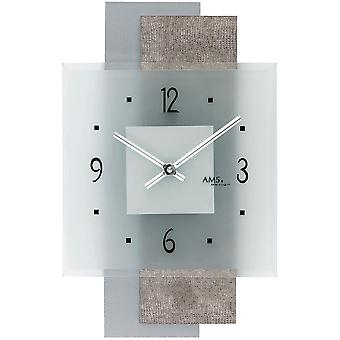 Quartz wall clock wall clock quartz design synthetic leather on wood-mineral glass back wall