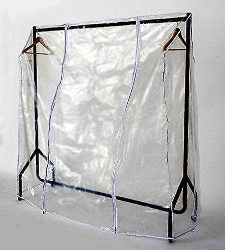 Transparent Clothes Rail Covers for Various sizes With 2 Zippers (4ft Long x 5ft High)