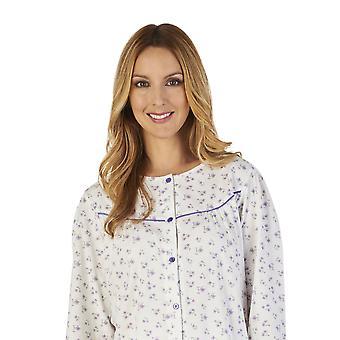 Slenderella PJ2115 Women's Ground Jersey Floral Pajama Pyjama Set