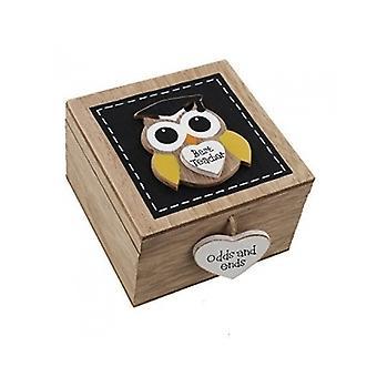 Melhor professor coruja Trinket Box