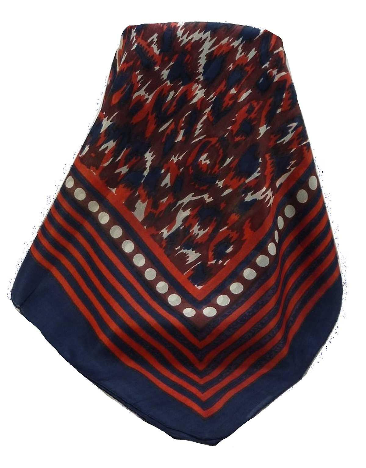 Mulberry Silk Contemporary Square Scarf Geometric G124 by Pashmina & Silk