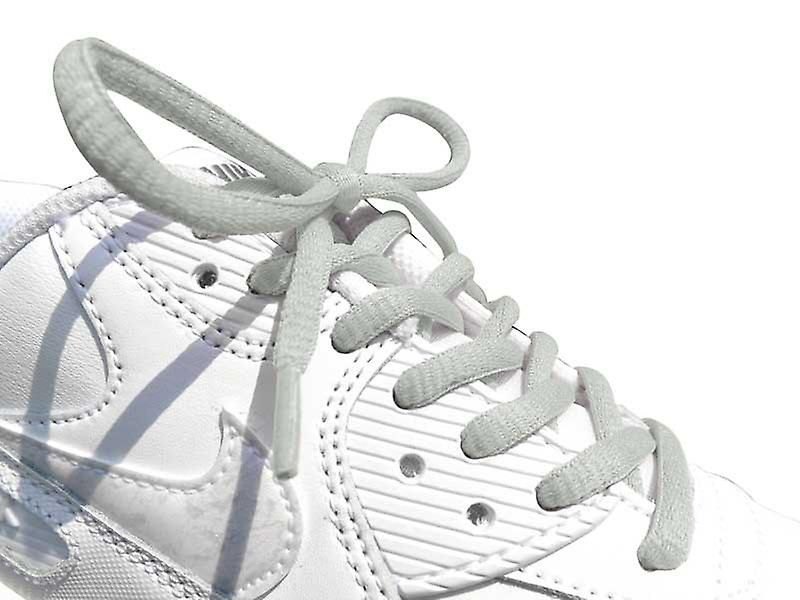 Grey Oval Sports Laces