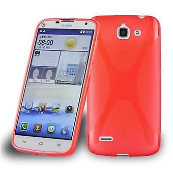 Cadorabo caso para Huawei ASCEND G730 caso capa-telefone móvel caso feito de silicone flexível TPU-capa de silicone caso protetor ultra slim macio tampa traseira caso pára-choques