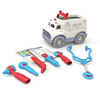 Green Toys Ambulance & Doctor's Kit - Pretend Play