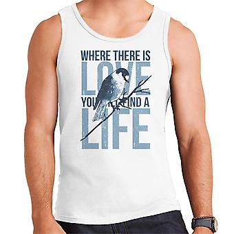 Bird Where There Is Love Youll Find A Life Men's Vest