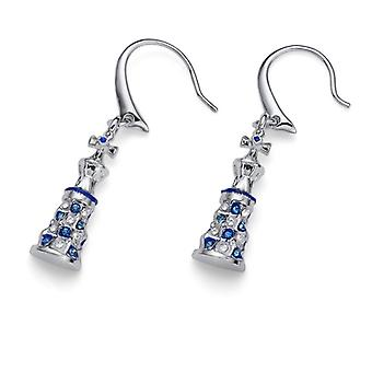 Earrings Torre Gaud RH CRY blue