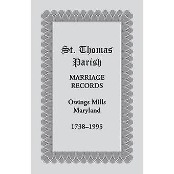 St. Thomas Parish huwelijk Records Owings Mills Maryland 17381995