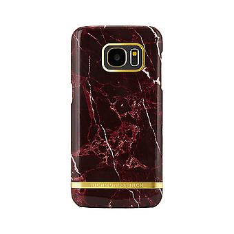 Richmond & Finch shells voor Samsung Galaxy S7 Edge-rood marmer