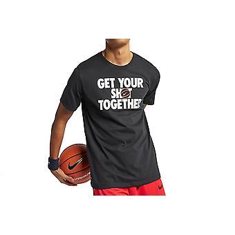 Nike få din shot tee AJ9585-010 menns T-skjorte