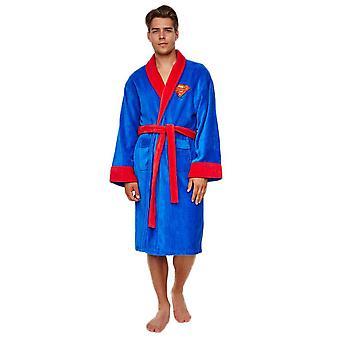 DC Comics Superman Adult Fleece Dressing Gown-ONE SIZE