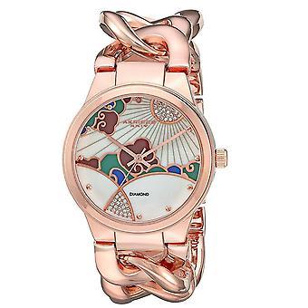 Akribos XXIV donna Crystal design Twist Bracciale a catena orologio AK931RG