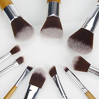 10 stk. professionelle bambus makeup pensler