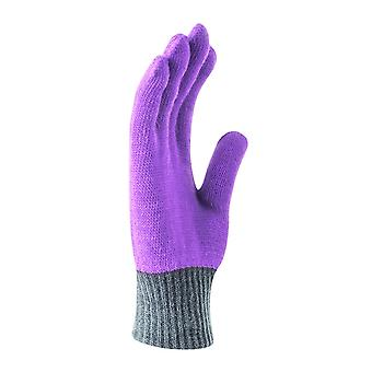 Nike Youth Purple Color Block Knitted Gloves