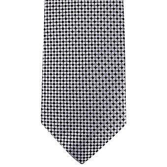 David Van Hagen überprüft Tie - weiß/grau/schwarz