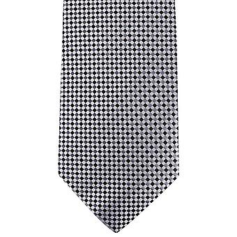 David Van Hagen tjekket slips - hvid/grå/sort