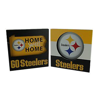 NFL Pittsburgh Steelers Football Cut Out Logo and Home Sweet Home Wall Hangings