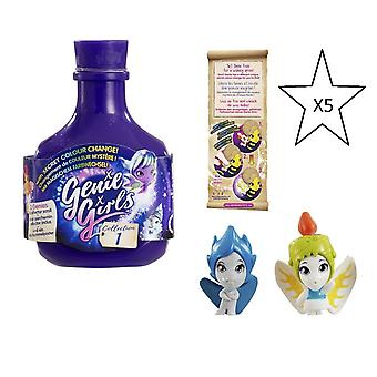 Genie Girls In A Bottle Collection 1 Purple - 5 X Bouteilles - Bundle