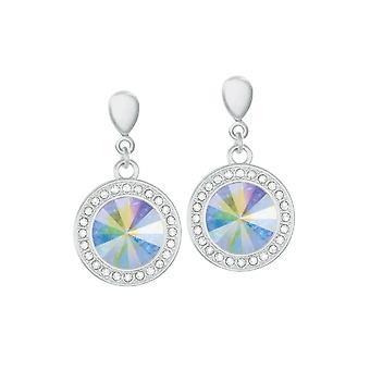 Eternal Collection Viva Aurora Borealis Austrian Crystal Silver Tone Drop Pierced Earrings