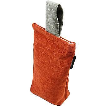 Mcalister textiles alston chenille brûlé orange - arrêt de porte gris