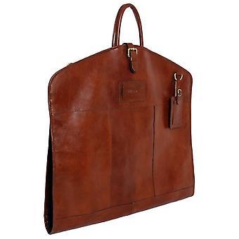 Ashwood Leather Chelsea Veg Tan Harper Folded Suit Carrier - Chestnut