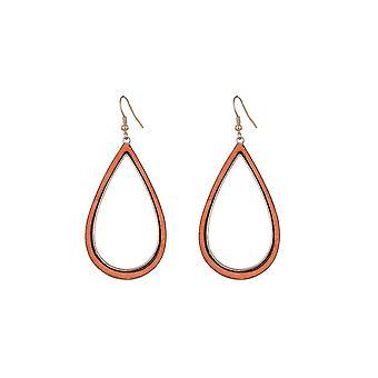 Jewelcity Sunkissed Womens/Ladies Wood Water Drop earrings