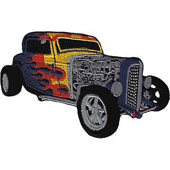 Patch - Automoblies - Blue Hot Rod with Flames Iron On Gifts New Licensed p-3825