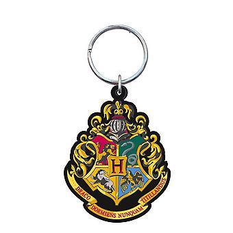 Llavero de PVC - Harry Potter - Hogwarts Crest Soft Touch New Licensed 48066