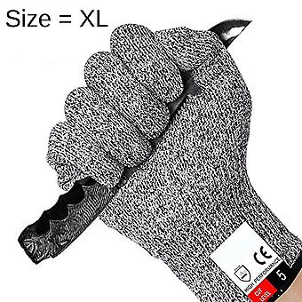 Anti Cut Gloves Level 5 EXTRA LARGE Level 5 Protection According to EN 388 The Best Protection Against Cuts!