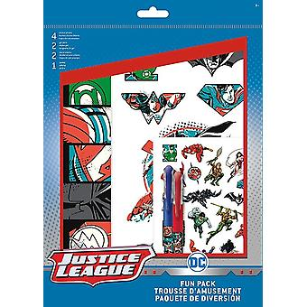Fun Packs Stickers - Justice League - w/Tattoos Games Toys Set st6947