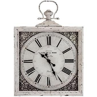 Wellindal Glass And Metal Square Wall Clock (Decoration , Clocks)