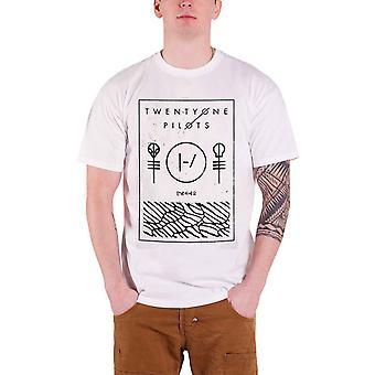 21 Twenty One Pilots T Shirt Thin Line Box Band Logo Official Mens New White