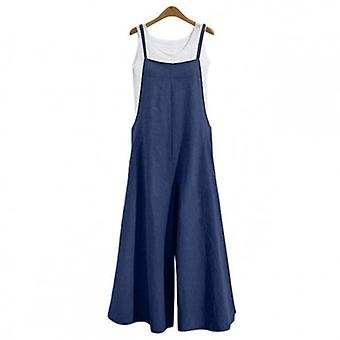 Long Wide Leg  Strappy Dungaree  Jumpsuit