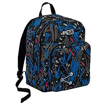 BIG Round Backpack -APPACK - Black Blue 30Lt