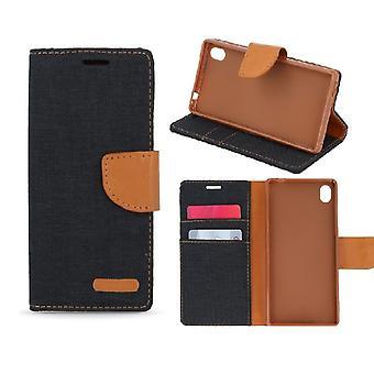 Sony Xperia Z5 - Smart Canvas Wallet Case - Sort