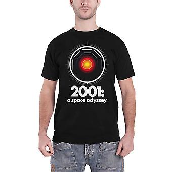 2001 A Space Odyssey T Shirt Hal 9000 Movie Logo new Official Mens Black
